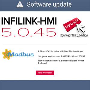 Infilink-HMI 5.0.45 Update with Modbus Driver